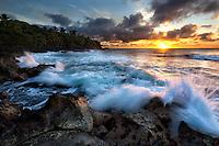 Sunrise at Opihikao, on the Big Island of Hawaii