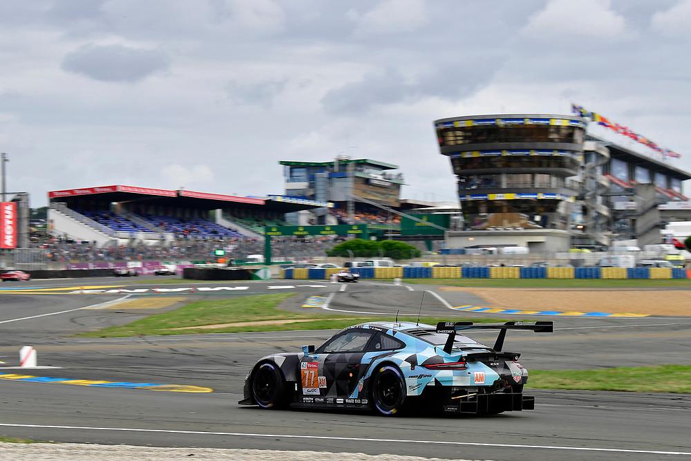 #77 Proton Competition Porsche 911 RSR: Christian Ried, Julien Andlauer, Matt Campbell<br /> Sunday 17 June 2018<br /> 24 Hours of Le Mans<br /> 2018 24 Hours of Le Mans<br /> Circuit de la Sarthe  FR<br /> World Copyright: Scott R LePage