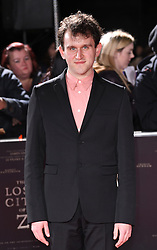 Harry Melling arriving at the UK Premiere of Lost City of Z, The British Museim, London.