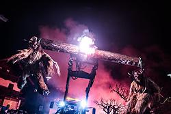 05.12.2017, Kaprun, AUT, Pinzgauer Krampustage im Bild Mitglieder verschiedener Krampusgruppen beim Krampusumzug auf einem Traktor // Men dressed as a devil on a tractor performs during a Krampus show. Krampus is a mythical creature that, according to legend, accompanies Saint Nicholas during the festive season. Instead of giving gifts to good children, he punishes the bad ones, Kaprun, Austria on 2017/12/05. EXPA Pictures © 2017, PhotoCredit: EXPA/ JFK