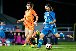 Dominique Bloodworth of Nederland  and Kaja Korošec of Slovenia during football match between Slovenia and Nederland in qualifying Round of Woman's qualifying for EURO 2021, on October 5, 2019 in Mestni stadion Fazanerija, Murska Sobota, Slovenia. Photo by Blaž Weindorfer / Sportida