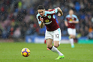 Robbie Brady of Burnley in action. Premier league match, Burnley v Chelsea at Turf Moor in Burnley, Lancs on Sunday 12th February 2017.<br /> pic by Chris Stading, Andrew Orchard Sports Photography.