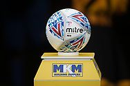 Match SkyBet championship match ball on plinth before kick off during the EFL Sky Bet Championship match between Hull City and Aston Villa at the KCOM Stadium, Kingston upon Hull, England on 31 March 2018. Picture by Craig Zadoroznyj.