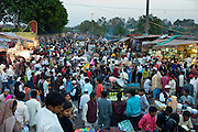 Meena Bazar and snack food market in Muslim area of Old Delhi, India