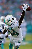 Miami Dolphins Jarvis Landry (14) makes a one handed catch during a game against the Indianapolis Colts on December 27, 2015 in Miami Gardens, Florida.<br /> <br /> ( Tom DiPace via AP)
