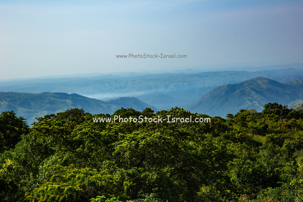 Elevated view over the Omo Valley in Mursi country, Ethiopia, Africa