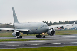 Military Royal Air Force Airbus A330 at Prestwick Airport, Ayrshire, Scotland UK