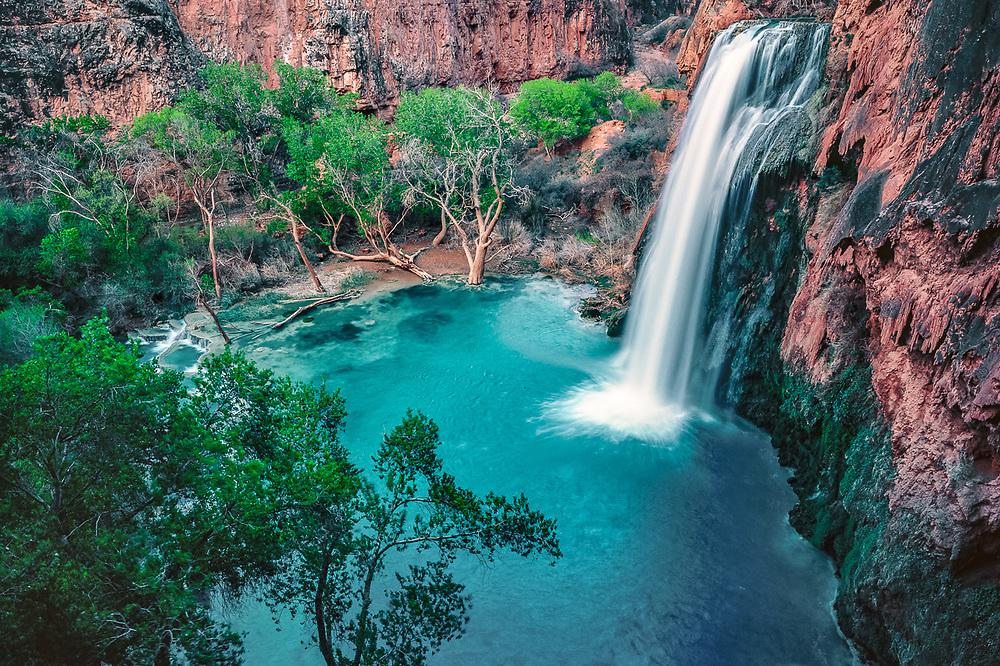 Havasu Falls, early summer, Grand Canyon, Arizona, USA
