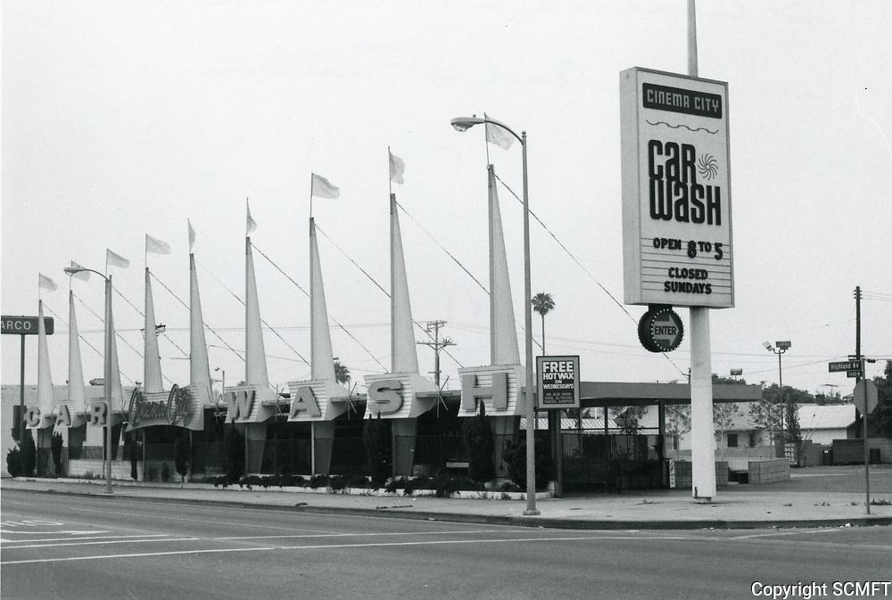 1978 Cinema Car Wash on Highland Ave. at DeLongpre Ave.