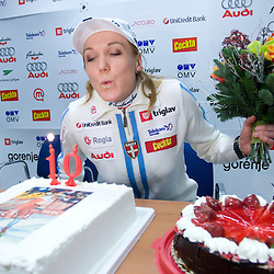 20081222: Nordic Ski - Petra Majdic's birthday and Akuro sponsorship