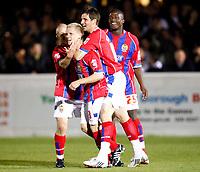 Matt Ritchie ( Dagenham ). celebrates his goal. Dagenham and Redbridge v Barnet at Victoria Road Stadium  Dagenham Coca Cola Division Two 10/10/2008<br /> Credit Colorsport / Kieran Galvin