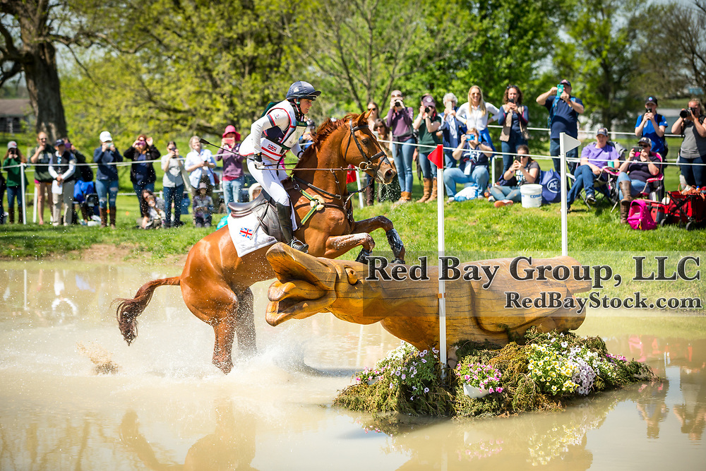 Piggy French (GBR) and Quarrycrest Echo during the cross-country at the 2019 Land Rover Kentucky Three-Day Event presented by MARS EQUESTRIAN in Lexington, Kentucky