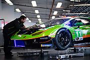 January 22-26, 2020. IMSA Weathertech Series. Rolex Daytona 24hr. GRT Grasser Racing Team Lamborghini Huracan GT3, Orange 1 Racing, GTD mechanic