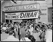 ackroyd-06496-6. Dinah Shore at Benson Hotel. December 9, 1955