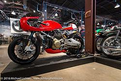Walt Siegl custom Ducati on Saturday in the Handbuilt Motorcycle Show. Austin, TX, USA. April 9, 2016.  Photography ©2016 Michael Lichter.
