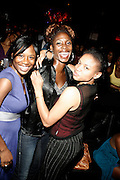 Guest, Meadea Brooks and Kalia Brooks at An evening with Dave Chappelle for Kevin Powell for Congress held at Eugene's on July 9, 2008..Kevin Powell runs as a Democratic Candidate for Congress in Brooklyn's 10th Congressional District