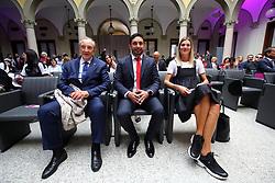 BRUNO CATTANEO E DAVIDE MAZZANTI E FRANCESCA PICCININI<br /> PRESENTAZIONE CAMPIONATO PALLAVOLO FEMMINILE SERIE A 2019-2020<br /> FOTO FILIPPO RUBIN / LVF