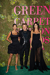 Tina Kunakey, Renzo Rosso, Arianna Alessi attend the Green Carpet Fashion Awards Gala during Milan Fashion Week Spring/Summer 2019 on September 23, 2018 in Milan, Italy. Photo by Marco Piovanotto/ABACAPRESS.COM