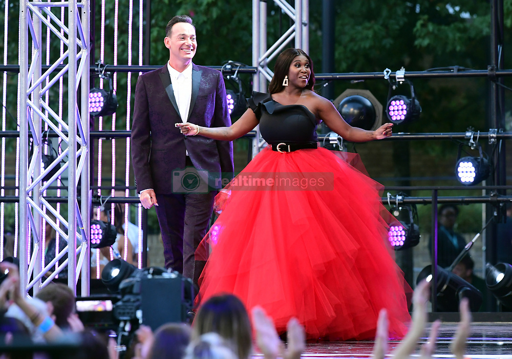 Craig Revel Horwood (left) and Motsi Mabuse arriving at the red carpet launch of Strictly Come Dancing 2019, held at BBC TV Centre in London, UK.