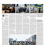 "Tearsheet of ""Ukraine: Kiev protests"" published in Expresso"