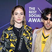 NLD/Amsterdam/20190613 - Inloop uitreiking De Beste Social Awards 2019, Teske de Schepper en ..........