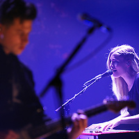 Nederland, Amsterdam , 3 maart 2014.<br /> De Britse Triphop band London Grammar live in de Melkweg.<br /> Foto:Jean-Pierre Jans