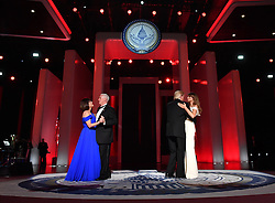 President Donald Trump and First Lady Melania Trump dance along with Vice President Mike Pence and Karen Pence at the Liberty Ball on January 20, 2017 in Washington, D.C. Trump will attend a series of balls to cap his Inauguration day. Photo by Kevin Dietsch/UPI