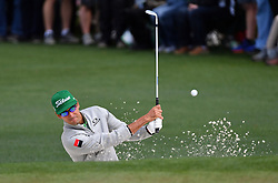 April 6, 2017 - Augusta, GA, USA - Rafaela Cabrera-Bello hits from the bunker onto the 2nd green as play begins in the opening round of the 81st Masters tournament at the Augusta National Golf Club Thursday, April 6, 2017, in Augusta, Ga. (Credit Image: © Brant Sanderlin/TNS via ZUMA Wire)
