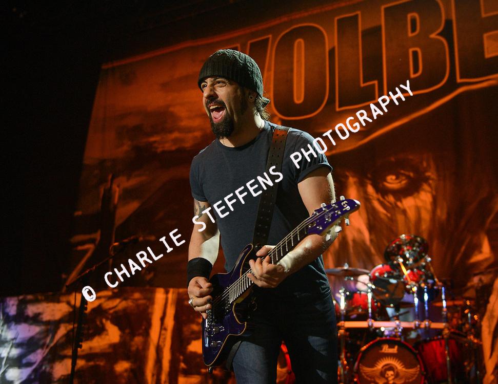 ROB CAGGIANO of Volbeat at Knotfest at San Manuel Amphitheater in San Bernardino, California