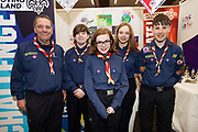 24/11/2019 repro free: Galway Scouts  on the last day of the Galway Science and Technology Festival  at NUI Galway where over 20,000 people attended exhibition stands  from schools to Multinational Companies . Photo:Andrew Downes, xposure
