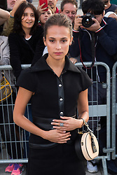 Alicia Vikander arriving at Louis Vuitton fashion show during Spring/Summer 2018 ready to wear collection in Paris, France, October 03 2017. Photo by Nasser Berzane/ABACAPRESS.COM