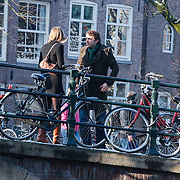 NLD/Amsterdam/20121208 - Herdenkingsdienst voor de verleden Jeroen Willems, Ramsey Nasr en vriendin