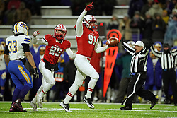 November 9, 2018 - Eagan, MN, USA - Lakeville North defensive lineman Will Mostaert (91) ran out of the pile with the ball after making an interception in the first half. ] ANTHONY SOUFFLE • anthony.souffle@startribune.com ....Lakeville North High School played St. Michael-Albertville High School in a Class 6A state tournament quarterfinals football game Friday, Nov. 9, 2018 at TCO Stadium in Eagan, Minn. (Credit Image: © Anthony Souffle/Minneapolis Star Tribune via ZUMA Wire)