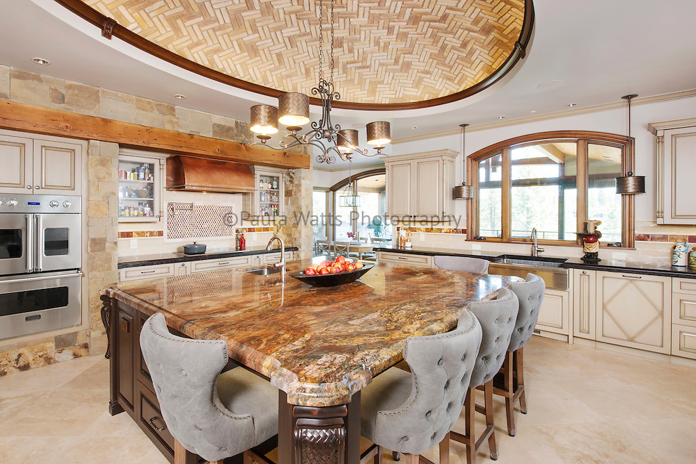 rustic traditional kitchen interior