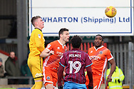 Scunthorpe United midfielder Duane Holmes (19) during the EFL Sky Bet League 1 match between Scunthorpe United and Shrewsbury Town at Glanford Park, Scunthorpe, England on 17 March 2018. Picture by Mick Atkins.