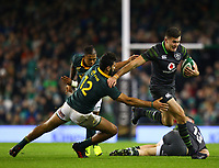 Rugby Union - 2017 Guinness Series (Autumn Internationals) - Ireland vs. South Africa<br /> <br /> Ireland's Jacob Stockdale in action against South Africa's Damian de Allende, at the Aviva Stadium.<br /> <br /> COLORSPORT/KEN SUTTON