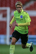 Brighton U18 Max Sanders  during the FA Youth Cup match between U18 Nottingham Forest and U18 Brighton at the City Ground, Nottingham, England on 10 December 2015. Photo by Simon Davies.