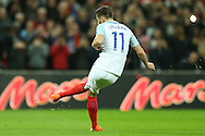 GOAL - Adam Lallana of England scores his sides 1st goal from a penalty. England v Spain, Football international friendly at Wembley Stadium in London on Tuesday 15th November 2016.<br /> pic by John Patrick Fletcher, Andrew Orchard sports photography.