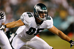 Philadelphia Eagles Tight End Rob Myers #85 during the NFL game between the Jacksonville Jaguars and the Philadelphia Eagles on August 27th 2009. The Eagles won 33-32 at Lincoln Financial Field in Philadelphia, Pennsylvania.  (Photo By Brian Garfinkel)