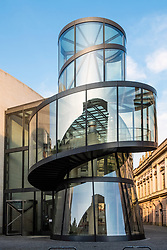 View of IM Pei's modern extension to the German History Museum ( Deutsches Historisches Museum) in Berlin, Germany