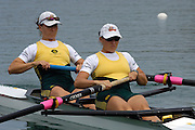 2005 FISA Rowing World Cup Munich,GERMANY. 18.06.2005; AUS W2-  Bow Kate Hornsey and Sonia Mills..Photo  Peter Spurrier. .email images@intersport-images...[Mandatory Credit Peter Spurrier/ Intersport Images] Rowing Course, Olympic Regatta Rowing Course, Munich, GERMANY