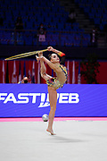Averina Arina during the Pesaro World Cup qualifications on May 28-29, 2021. Arina is a Russian gymnast born in Zavolž'e on August 13, 1998