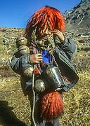Yak herder boy, near Kangchenjunga