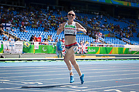 20160913 Copyright onEdition 2016©<br /> Free for editorial use image, please credit: onEdition<br /> <br /> Track Athlete, Georgina Hermitage, 400m T37 - Women, from Alton, Hants, wins a gold medal competing for ParalympicsGB at the Rio Paralympic Games 2016.<br />  <br /> ParalympicsGB is the name for the Great Britain and Northern Ireland Paralympic Team that competes at the summer and winter Paralympic Games. The Team is selected and managed by the British Paralympic Association, in conjunction with the national governing bodies, and is made up of the best sportsmen and women who compete in the 22 summer and 4 winter sports on the Paralympic Programme.<br /> <br /> For additional Images please visit: http://www.w-w-i.com/paralympicsgb_2016/<br /> <br /> For more information please contact the press office via press@paralympics.org.uk or on +44 (0) 7717 587 055<br /> <br /> If you require a higher resolution image or you have any other onEdition photographic enquiries, please contact onEdition on 0845 900 2 900 or email info@onEdition.com<br /> This image is copyright onEdition 2016©.<br /> <br /> This image has been supplied by onEdition and must be credited onEdition. The author is asserting his full Moral rights in relation to the publication of this image. Rights for onward transmission of any image or file is not granted or implied. Changing or deleting Copyright information is illegal as specified in the Copyright, Design and Patents Act 1988. If you are in any way unsure of your right to publish this image please contact onEdition on 0845 900 2 900 or email info@onEdition.com