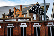 General stadium view outside Craven Cottage before The FA Cup 3rd round match between Fulham and Oldham Athletic at Craven Cottage, London, England on 6 January 2019.