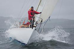 Clyde Cruising Club's Scottish Series 2019<br /> 24th-27th May, Tarbert, Loch Fyne, Scotland<br /> <br /> Day 2 Wet & Wild on Loch Fyne<br /> <br /> Class 5, start, GBR2496, Valhalla of Ashton,  CCC , Swan 36<br /> <br /> <br /> Credit: Marc Turner / CCC