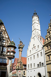 Rothenburg ob der Tauber medieval town in Bavaria Germany