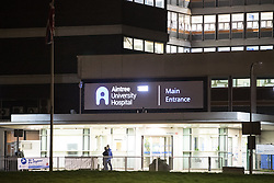 © Licensed to London News Pictures. 21/02/2017. Liverpool, UK. Scene at Aintree University Hospital where earlier today convicted murderer Shaun Walmsley escaped from custody , aided by two armed men. Merseyside Police are currently engaged in a manhunt . Photo credit: Joel Goodman/LNP