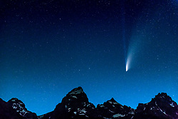 Neowise Comet visiting Grand Teton National Park.  I was lucky to be there.