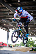 #317 (TOPINKA Dominik) CZE at Round 5 of the 2019 UCI BMX Supercross World Cup in Saint-Quentin-En-Yvelines, France